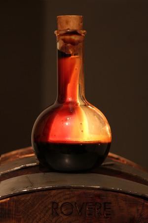 Balsamic vinegar of Modena, Italy, a glass bottle containing special sweetening Modena Reklamní fotografie
