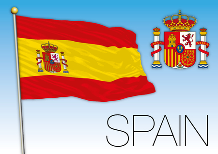 Spain flag and coat of arms