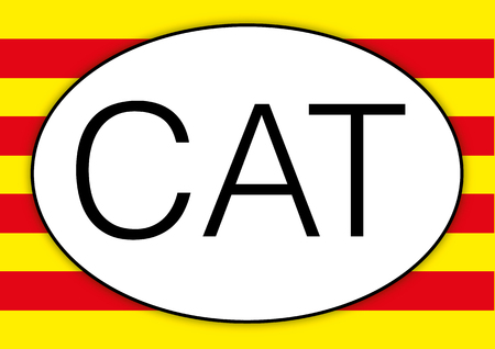 Catalunya oval car plate, CAT