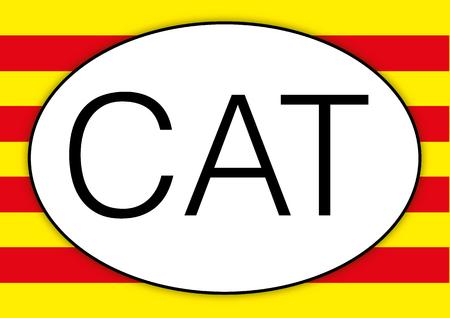 barcelona: Catalunya oval car plate, CAT