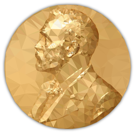 Gold Medal Nobel Prize, graphics elaboration to polygons Zdjęcie Seryjne - 87281340