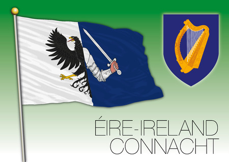 Connacht regional flag, Eire, Ireland
