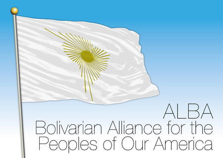 ALBA, Bolivarian Alliance for the Peoples of Our America flag and symbol