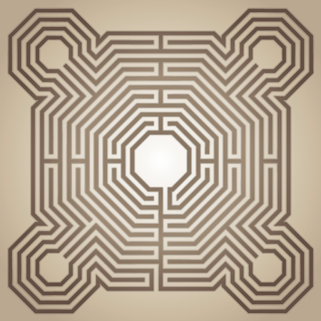 Labyrinth of the cathedral of Reims, France Illustration