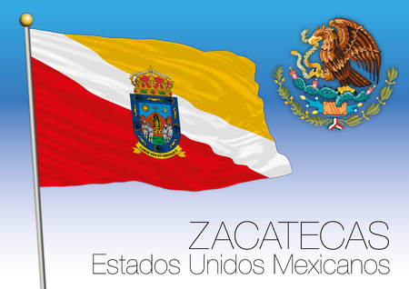 Zacatecas regional flag, United Mexican States, Mexico