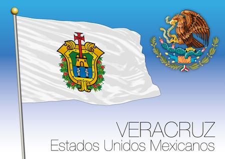 ベラクルス地方の旗、米国メキシコ合衆国、メキシコ 写真素材 - 90255929
