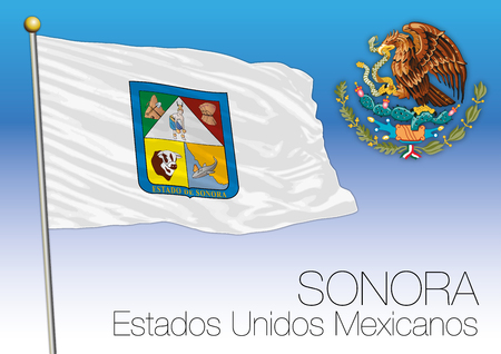Sonora regional flag, United Mexican States, Mexico