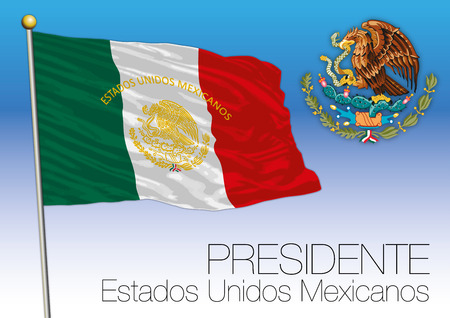 Mexico, Presidential Flag and Coat of Arms, Estados Unidos Mexicanos
