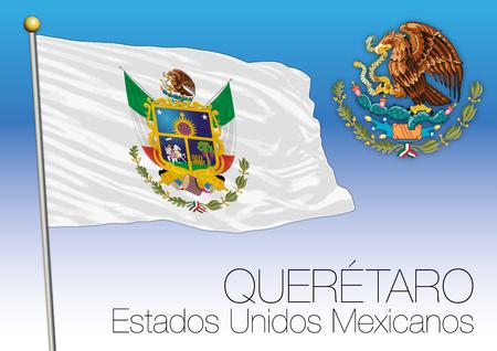 Queretaro regional flag, United Mexican States, Mexico