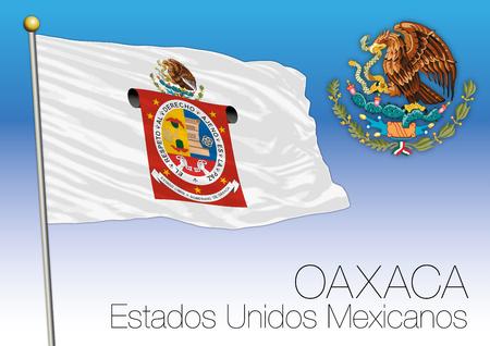 Oaxaca regional flag, United Mexican States, Mexico