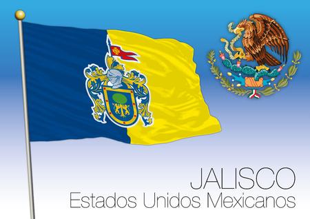 メキシコ合衆国、メキシコ、ハリスコ州地域フラグ 写真素材 - 91001218