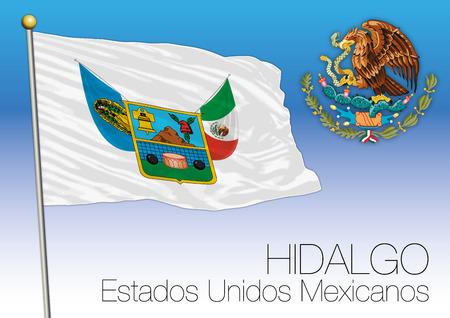 メキシコ合衆国、メキシコ、イダルゴ地域フラグ 写真素材 - 91194736