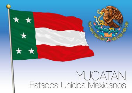 ユカタン地域の旗、米国メキシコ合衆国、メキシコ 写真素材 - 91509261