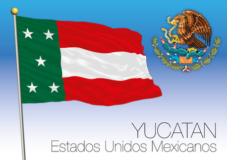 Yucatan Regional Flag, United Mexican States, Mexico