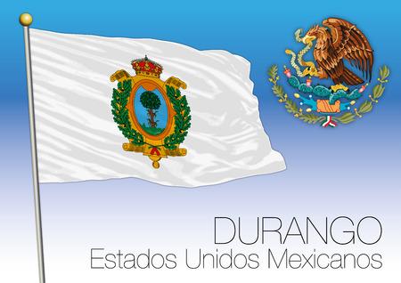 デュランゴ地域の旗, アメリカメキシコ合衆国, メキシコ 写真素材 - 91509266