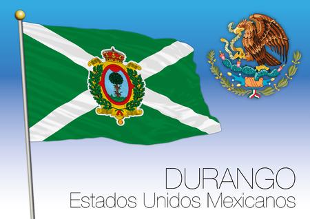 メキシコ合衆国、メキシコ、ドゥランゴ周辺地域フラグ 写真素材 - 91509267
