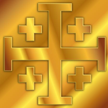 cross of jerusalem, vector graphic design, illustration