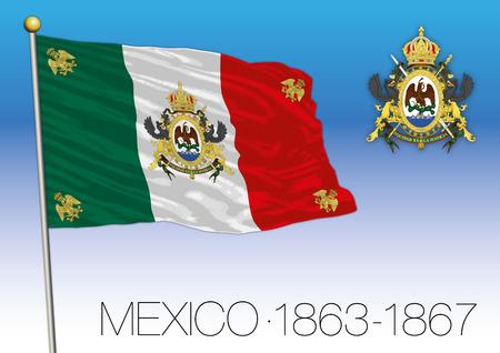 Mexico, historical flag 1863-1867 Banco de Imagens