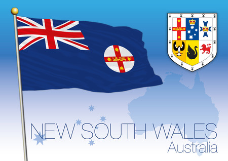 New South Wales, flag of the state and territory, Australia