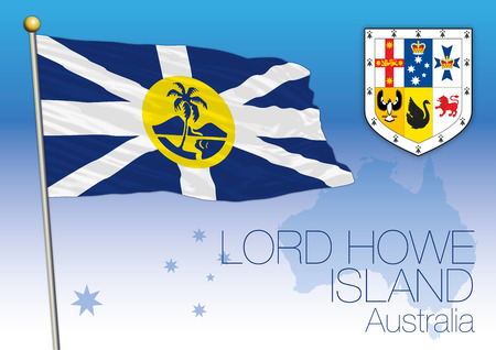 Lord Howe Islands, flag of the territory, Australia Vector illustration.