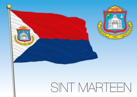 신트 마틴 (Sint Marteen) 영토 및 국장의 국기