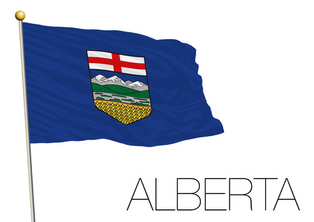 Alberta regional flag Canada. 일러스트