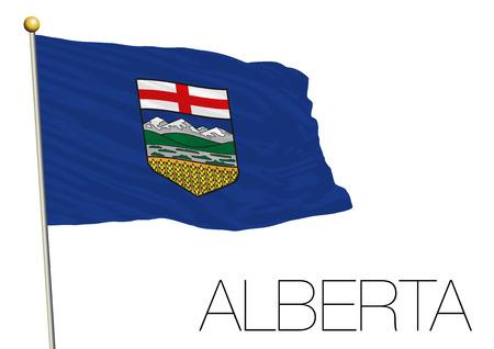 Alberta regional flag Canada. Illustration