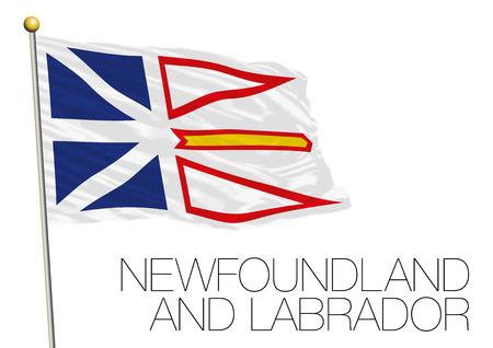 Drapeau régional de Terre-Neuve-et-Labrador Canada. Banque d'images - 92577210
