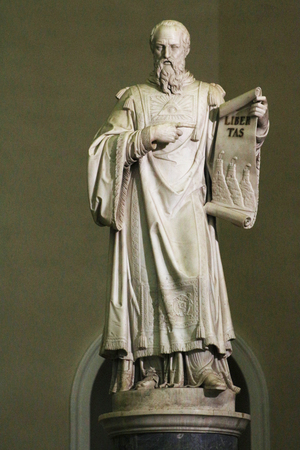 San Marino Republic, San Marino statue, monument of the city Stock Photo