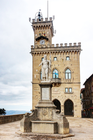 San Marino Republic, Liberty statue, monument of the city Stock Photo