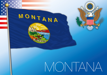 Montana federal state flag, United States 向量圖像