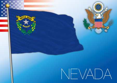 Nevada federal state flag, United States