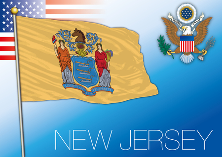 New Jersey federal state flag, United States
