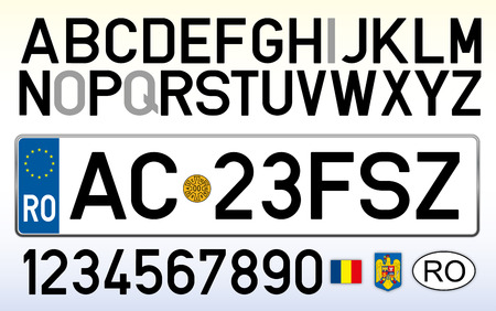 Romania car plate design