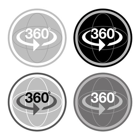 360 degree spherical photography icon 向量圖像