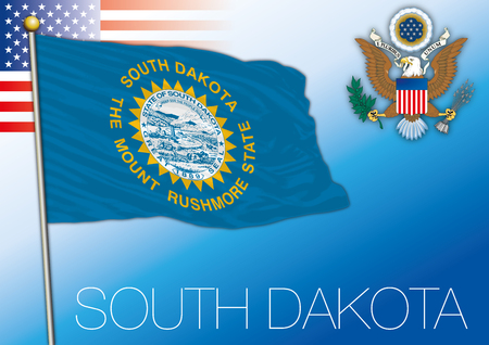 South Dakota federal state flag, United States