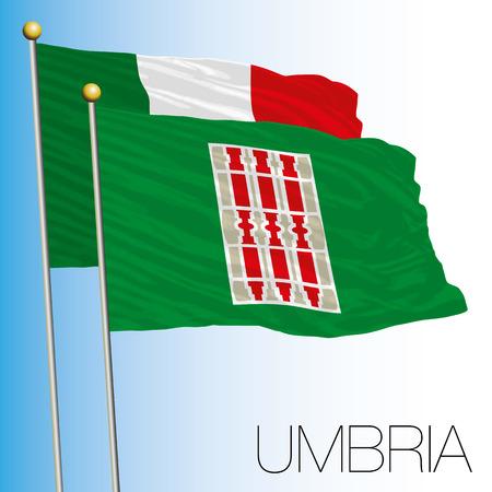 Umbria regional flag, Italian Republic, Italy, European Union