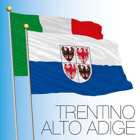Trentino Alto Adige regional flag, Italian Republic, Italy, European Union