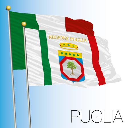Puglia regional flag, Italian Republic.