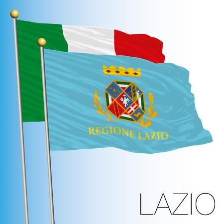 Lazio regional flag, Italian Republic, Italy, European Union