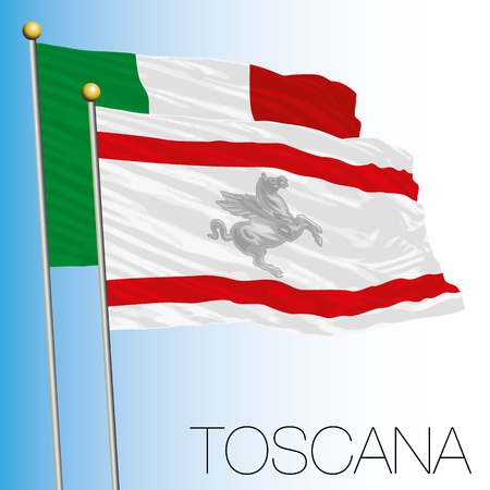 Tuscany regional flag, Italian Republic, Italy, European Union