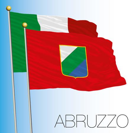 Abruzzo regional flag, Italian Republic, Italy, European Union Vettoriali