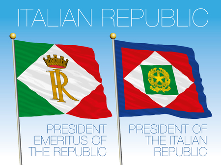 President of the Italian Republic flags, Italy