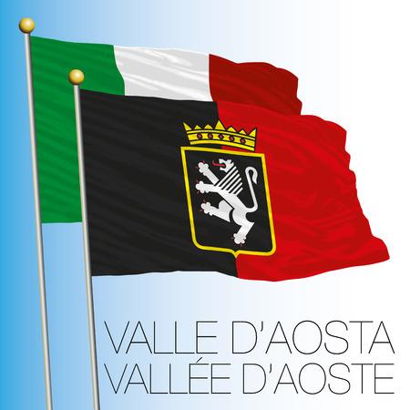 Valle dAosta regional flag, Italian Republic, Italy, European Union