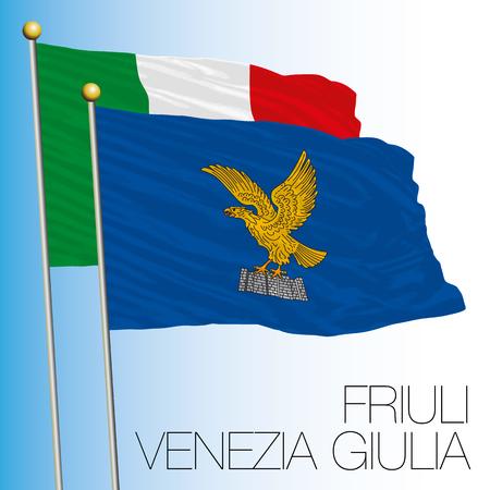 Friuli Venezia Giulia regional flag, Italian Republic, Italy, European Union