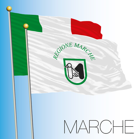 Marche regional flag, Italian Republic, Italy, European Union
