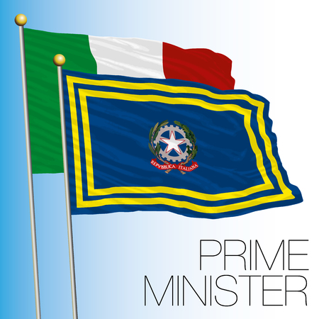 Prime Minister of the government flag, Italy