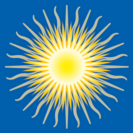 Sun, graphic elaboration, vector illustration