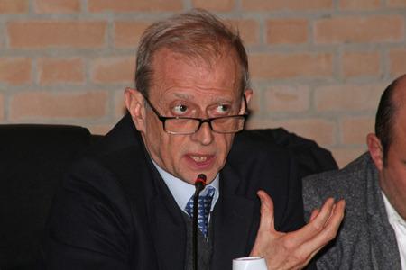 MODENA, ITALY, FEBRUARY 19, 2018 - Piero Fassino, public politic conference italian elections 2018