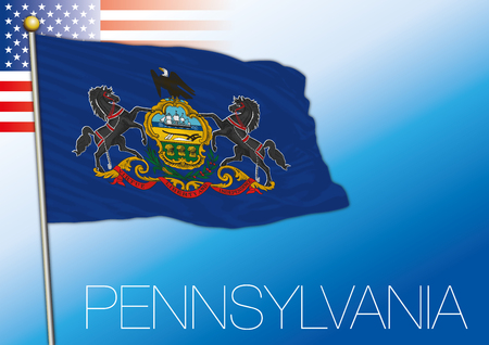 Pennsylvania federal state flag, United States.